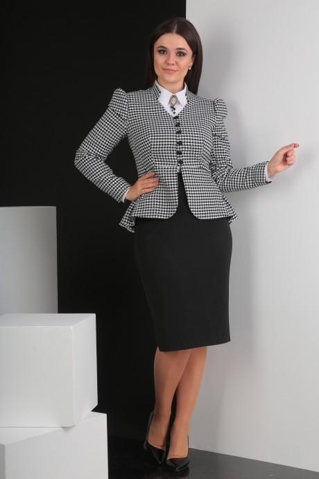 Костюм, комплект Мода-Юрс 2319-1 черно-белый