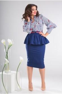 Мода-Юрс 2412 голубой в цветы + синий