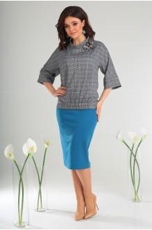 Мода-Юрс 2468 бирюза + серый
