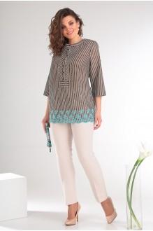Мода-Юрс 2336 молочный + коричневые полоски
