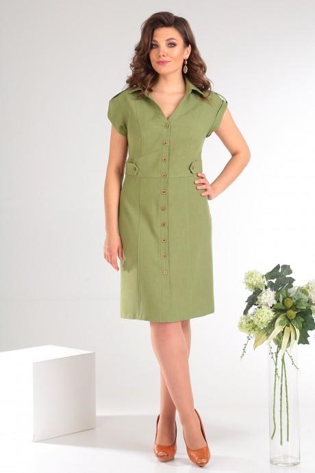 Платье Мода-Юрс 2346 зеленый