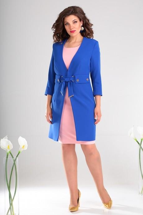 Костюм, комплект Мода-Юрс 2478 василёк + розовый