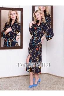 Платье Твой Имидж 9946 тёмно-синий фото 1