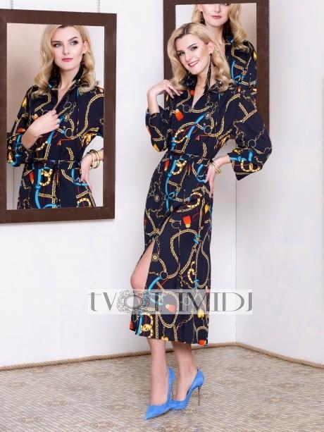 Платье Твой Имидж 9946 тёмно-синий