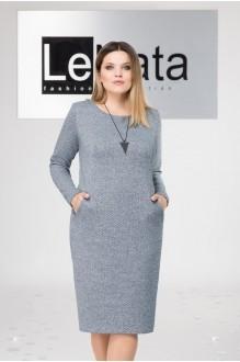 LeNata 11963 серо-синий в черную точку
