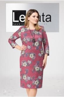 LeNata 11961 бордо в цветы