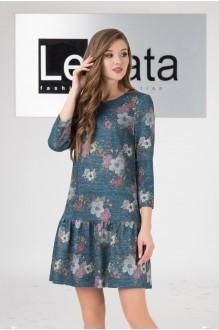 LeNata 11958 темно-бирюзовый с цветами