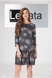 LeNata 11958 серый с цветами