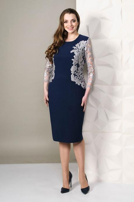 Платье Golden Vallеy 4451 темно-синий