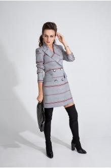 Elpaiz 433 серый с красной полосой + блузка красная