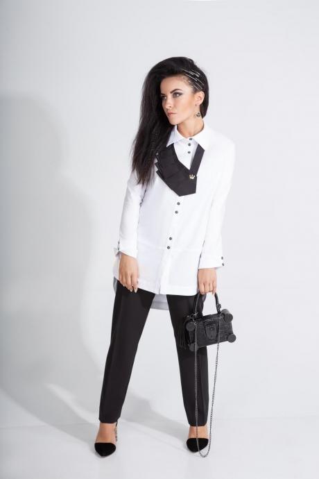 Костюм, комплект Elpaiz 442 белый+чёрный