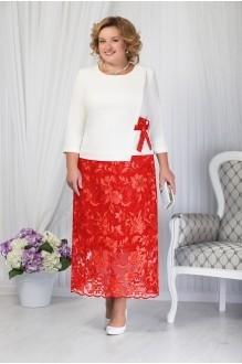 Костюм, комплект Нинель Шик 5656 красный фото 1