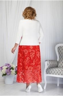 Костюм, комплект Нинель Шик 5656 красный фото 2