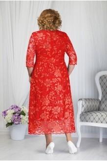 Платье Нинель Шик 7203 красный фото 2