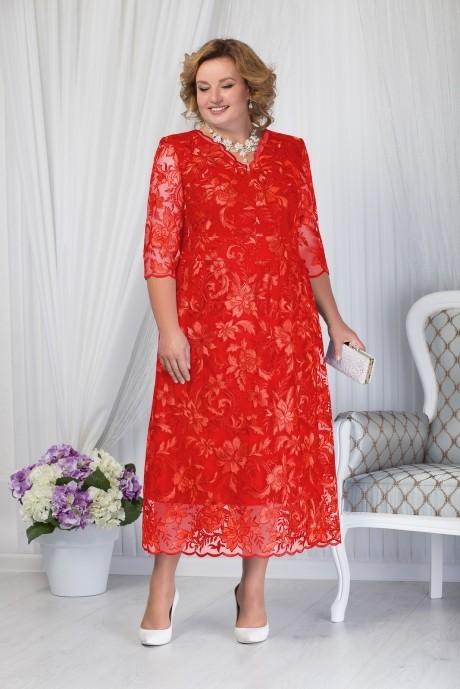 Платье Нинель Шик 7203 красный