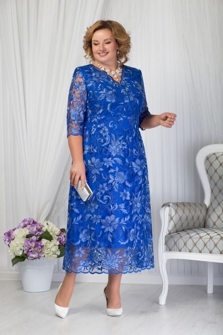 Платье Нинель Шик 7203 василек