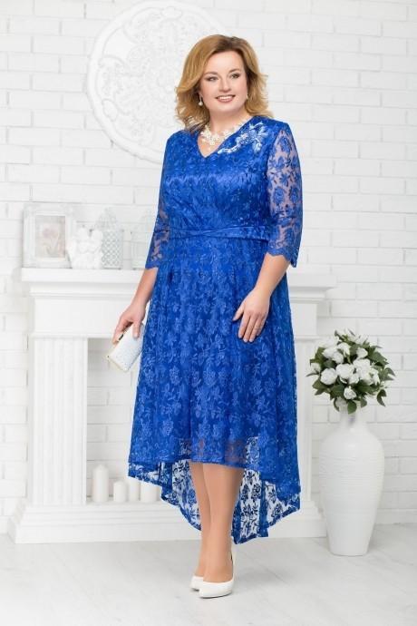 Платье Нинель Шик 5678 василек