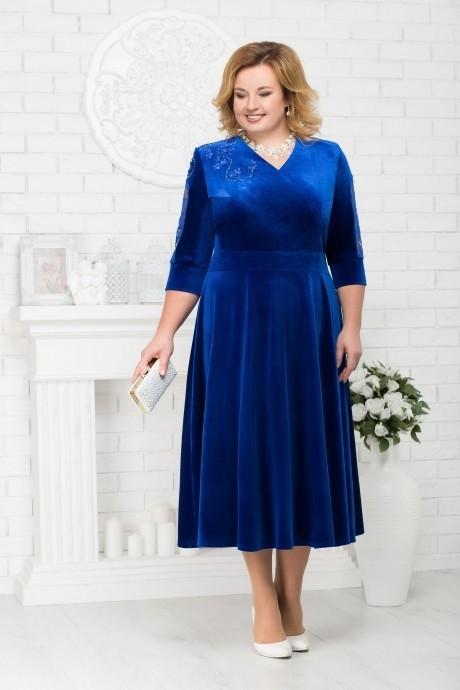 Платье Нинель Шик 2187 василек