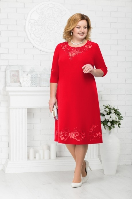 Платье Нинель Шик 7212 красный