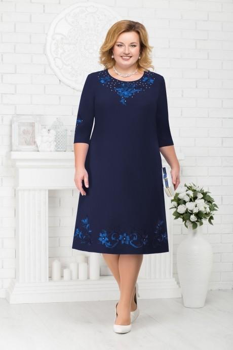 Платье Нинель Шик 7212 темно-синий