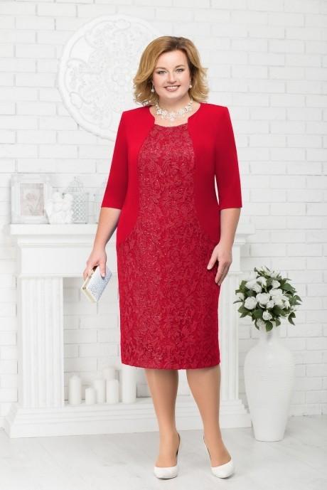 Платье Нинель Шик 7213 красный