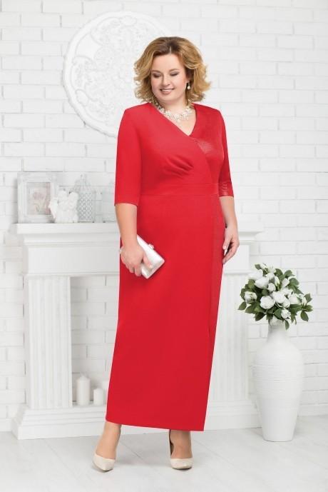 Платье Нинель Шик 7216 красный
