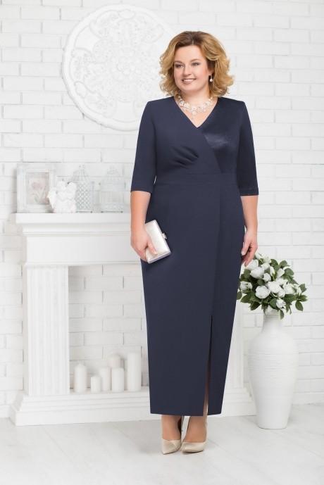 Платье Нинель Шик 7216 темно-синий