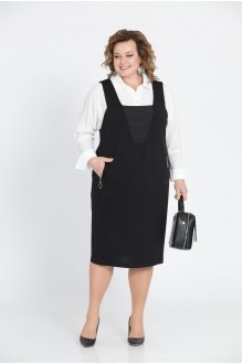 Прити 604 белая рубашка/чёрный сарафан