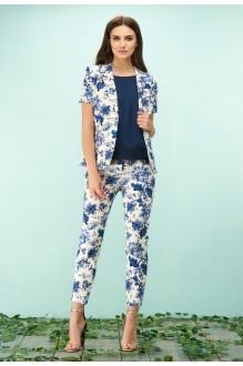 Bazalini 3115 брюки бело-голубой