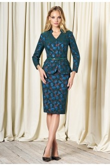 Bazalini 3266 юбка зеленый с синим(хамелеон)