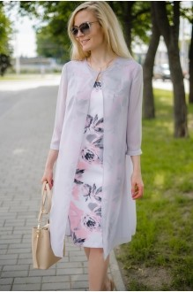Azzara 543С цветочный дизайн+ накидка нежно-серого цвета