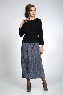 ALANI COLLECTION 829 блуза черная+юбка графит