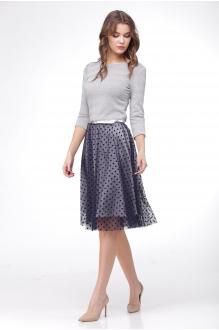 SandyNa 13543-1 серый+синий