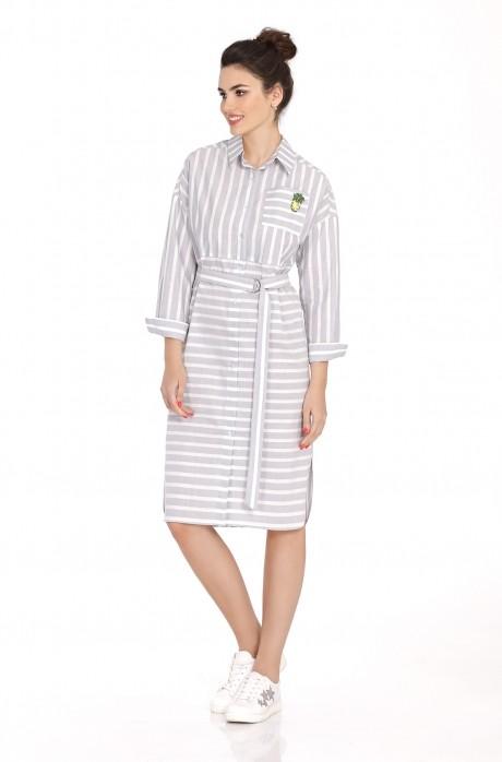 Платье PiRS 392 серый