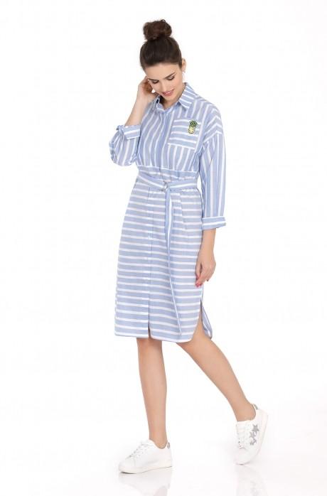 Платье PiRS 392 голубой