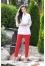 442 брюки красные №260712