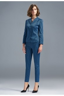 SOLEI 3263 брюки синий ромбик