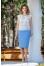 225 белая блуза/голубая юбка №386704