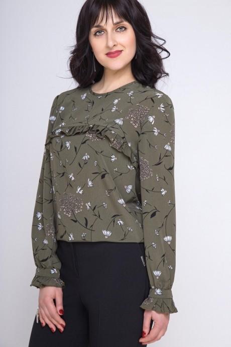 Блузка, туника Swallow 166 зелёный