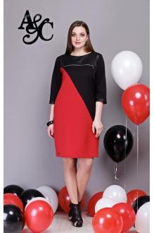 Angelina&Сompany 261 черный+красный