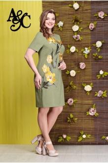 Angelina&Сompany 280 зеленый+желтые тюльпаны