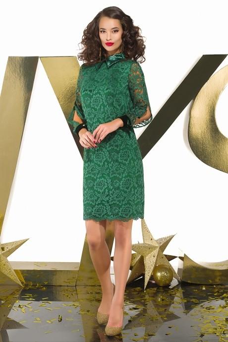 Платье Люше 1649 зелёный