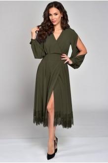 Платье Teffi Style 1310 хаки фото 2