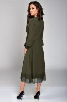 Платье Teffi Style 1310 хаки фото 3