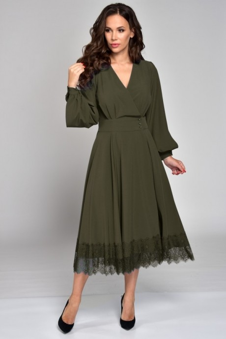 Платье Teffi Style 1310 хаки