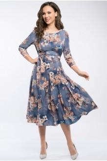 Платье Teffi Style 1217 цветы на графите фото 1
