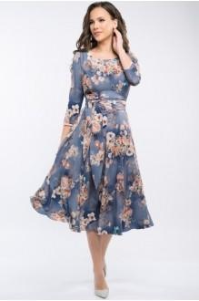 Платье Teffi Style 1217 цветы на графите фото 2