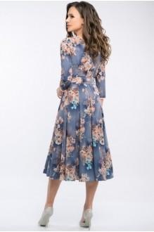 Платье Teffi Style 1217 цветы на графите фото 3