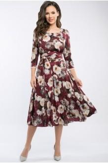 Платье Teffi Style 1217 бордо фото 1
