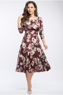 Платье Teffi Style 1217 бордо фото 2